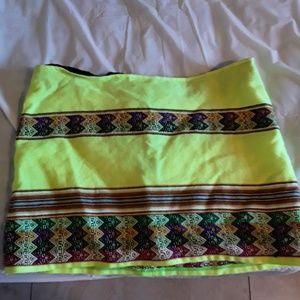 Neon yellow mini skirt by PitUSA